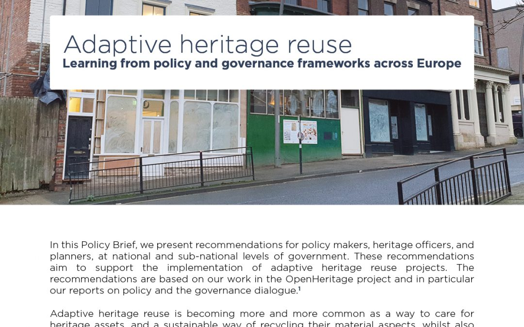 Learning from policy and governance frameworks across Europe – OpenHeritage Policy Brief #01 released