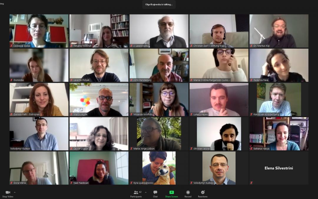 Consortium meeting – once again online