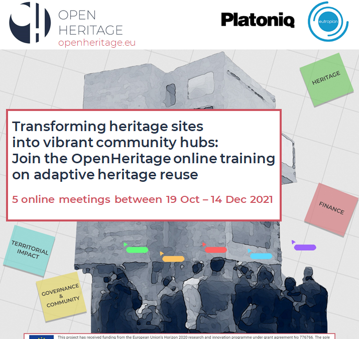 Transforming heritage sites into vibrant community hubs:  Join the OpenHeritage online training programme!